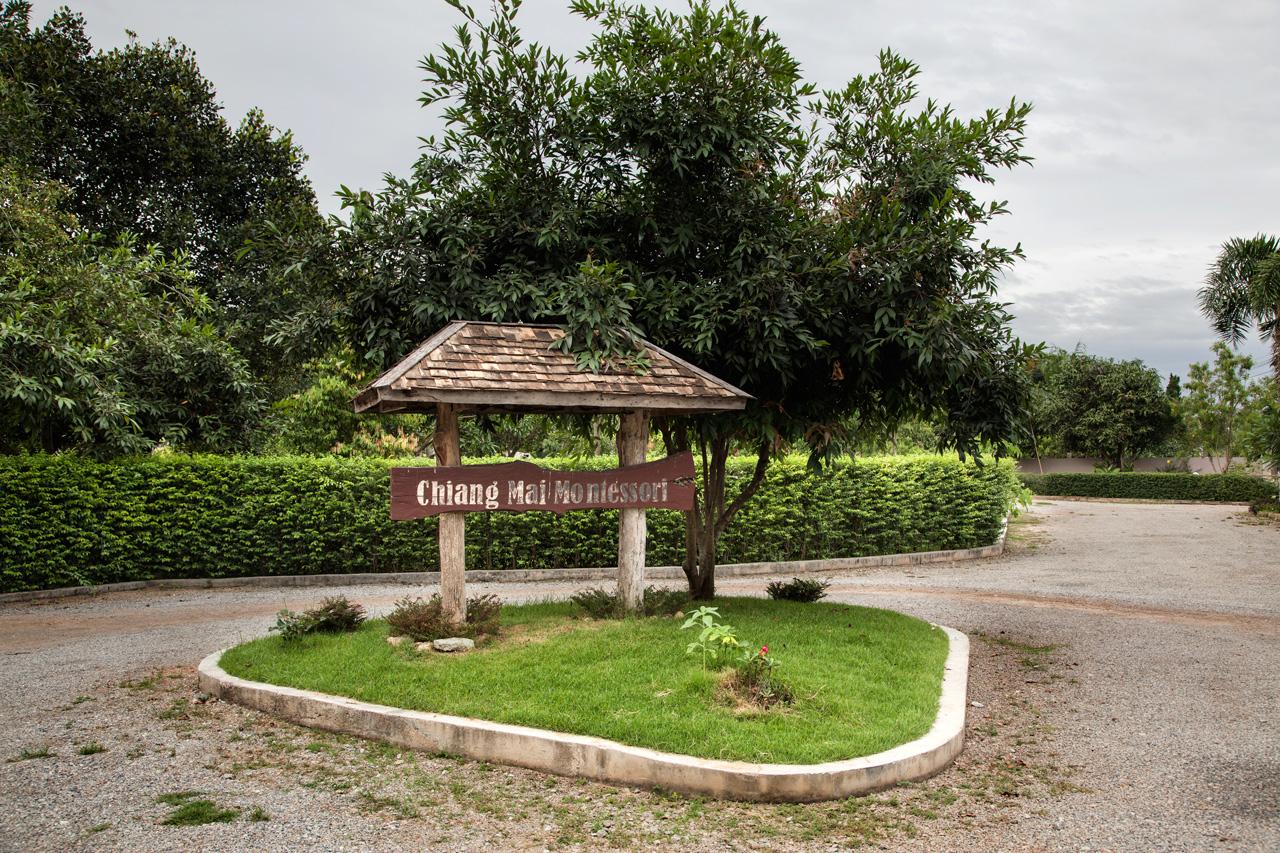 The entrance of the Montessori school