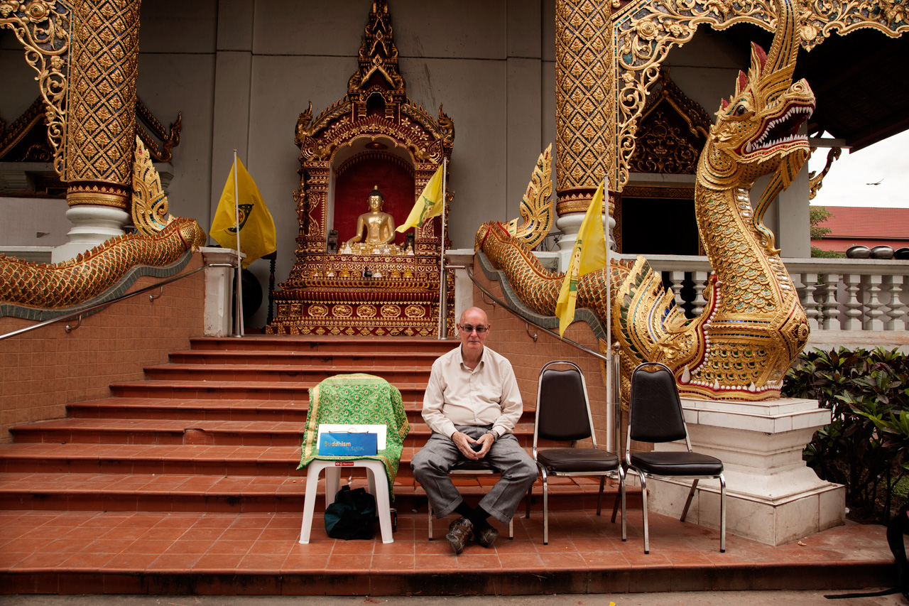After the death of his wife he decided to retire from work. He has always been a scholar of Buddhism and finally found time for his passion. If you ever go to Chiang Mai and visit Chiang Man Wat, you will find Dan patiently explaining to Americans what Buddhism is.